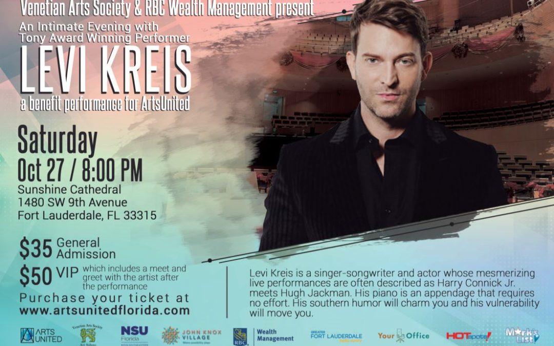 Levi Kreis a benefit performance for ArtsUnited